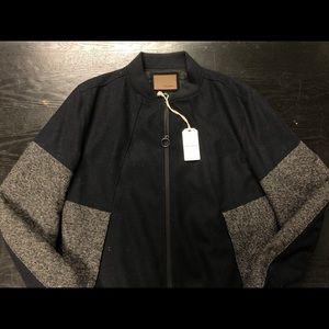 Civil Society Mens Wool Bomber Jacket